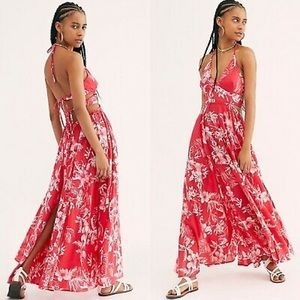 NWOT Free People Lille Raspberry Pink Maxi Dress M